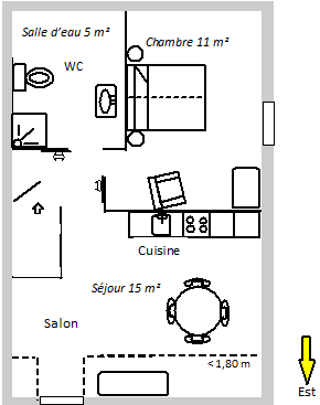 Plan du gite 2 personnes