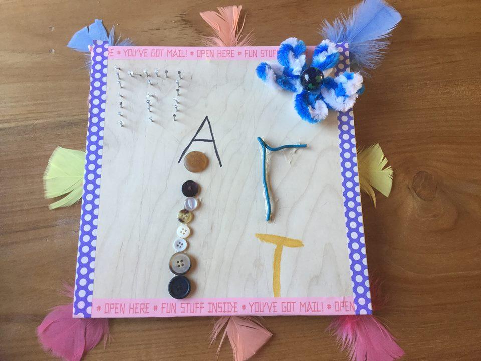 ARTii-kids openingfeest naambordje van Marit Driel