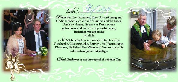Danksagung; Kunde / Client: Engelhardt