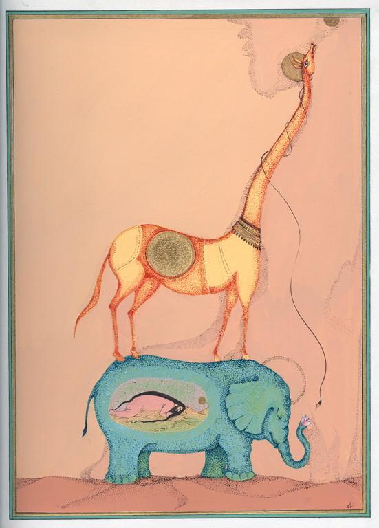 """""""je m'étais endormi"""", 2004, 23x30, gouache et aquarelle sur papier  ©"""