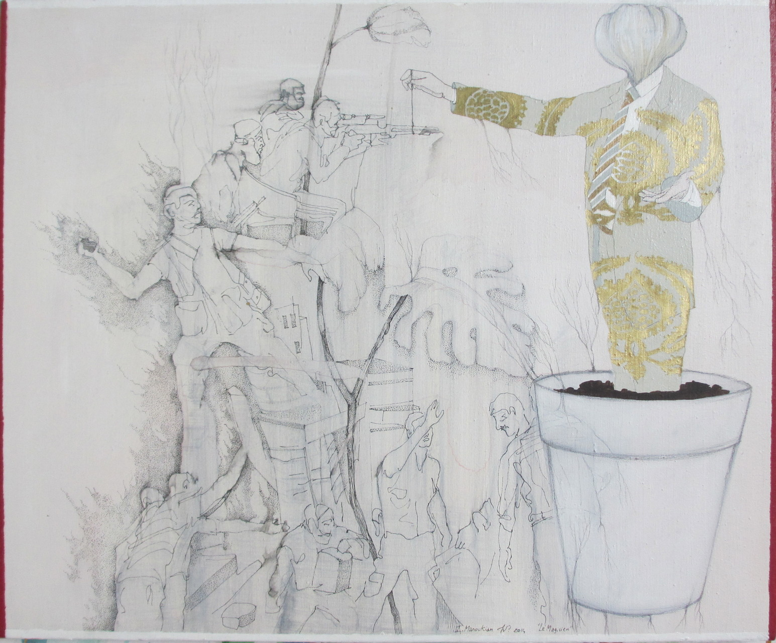 """""""""""Le magicien"""", 2014, 61x50 , acrylique sur toile ©"""