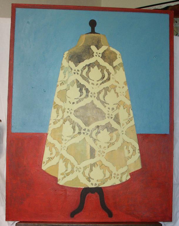 """""""sans titre"""", 116x89, acrylique, pastel gras sur toile ©"""