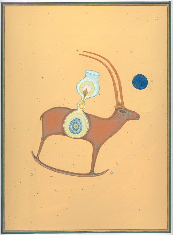 """""""le sable dort"""", 2004, 23x30, gouache et aquarelle sur papier  ©"""