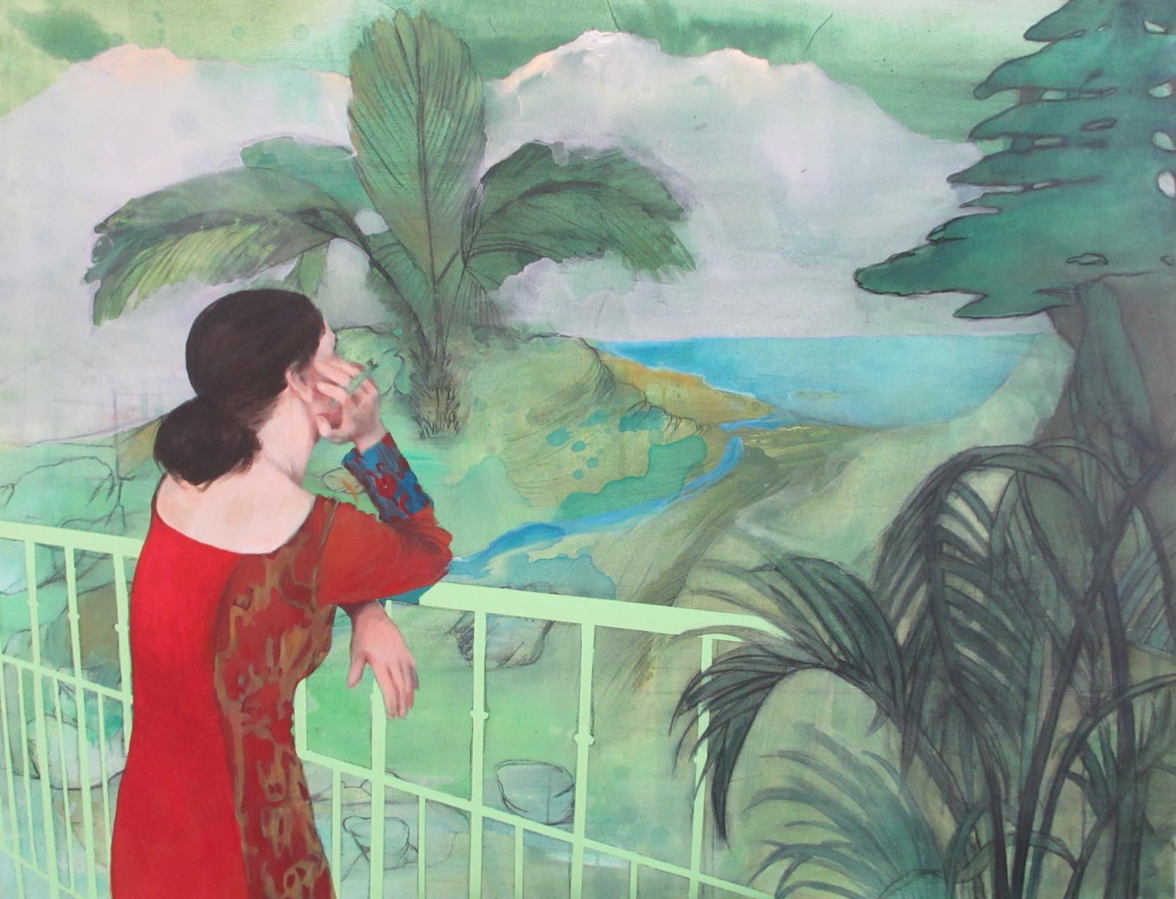 """""""Souvenir du Liban"""", 2015, 162x130, acrylique sur toile ©"""