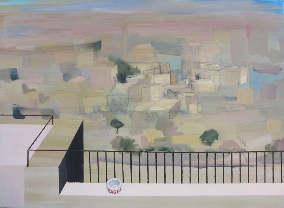 """""""Alep"""", 2014,100x73, acrylique sur toile ©"""