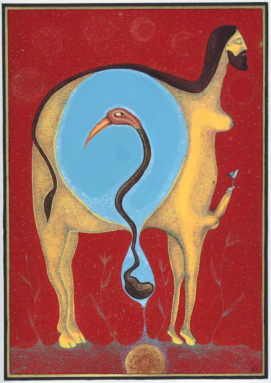 """""""debout"""", 2004, 23x30, gouache et aquarelle sur papier  ©"""