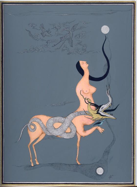 """""""nuages"""", 2004, 23x30, gouache et aquarelle sur papier  ©"""