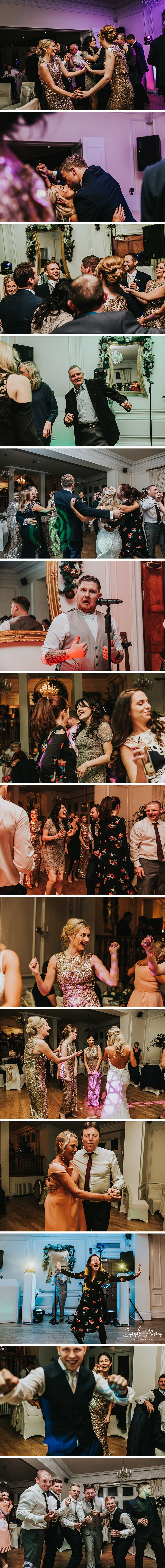 wedding guests having lots of fun at west tower in Lancashire