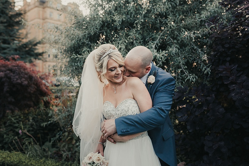 natural portrait of a bride and groom