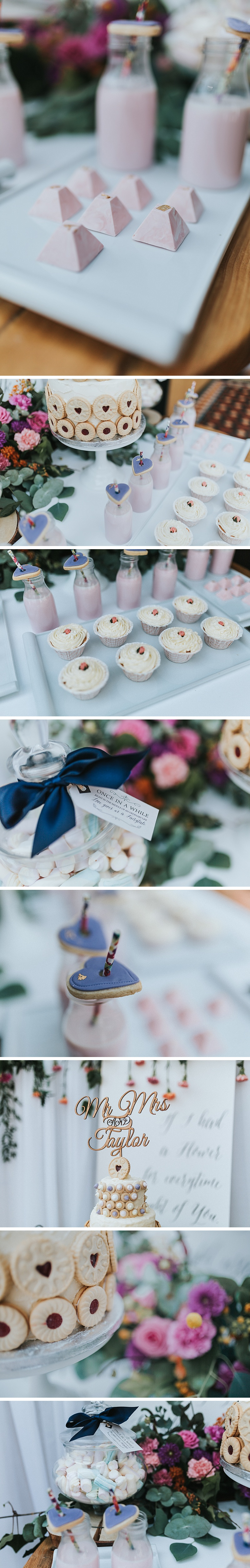dessert table by whimsical cakes Leeds