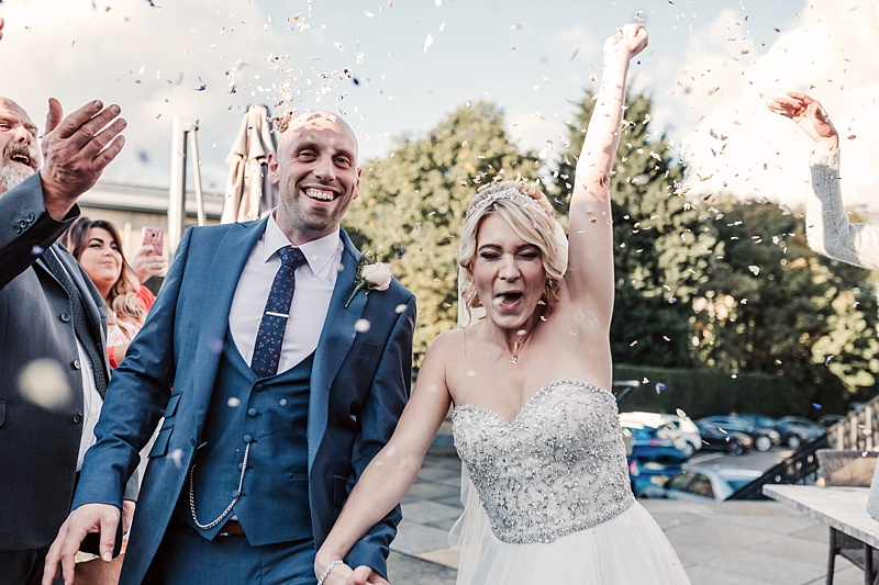 fun wedding confetti picture