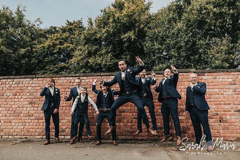 fun grooms party portrait
