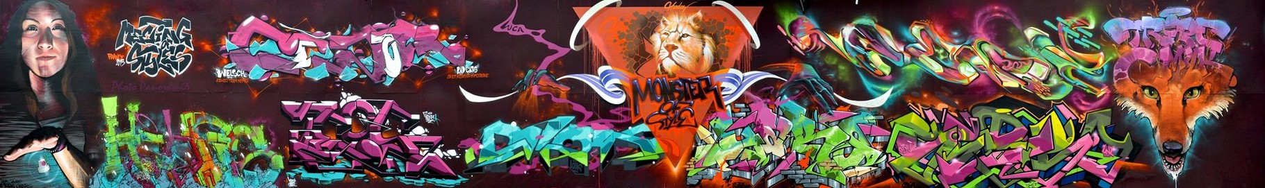 Meeting Of Style (Main wall) ) JEAN ROOBLE X CESAR X SHURER X TEOS X PABLO X MUTHA X SHADOW X YAKO X GERSO X ? X TRETZE - Perpignan (2015) ©Panoramix
