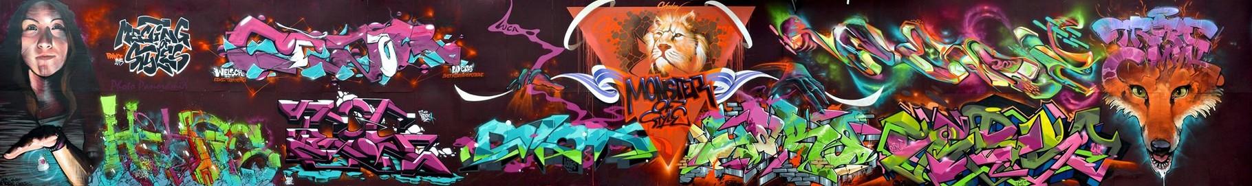 Meeting Of Style (Main wall) ) JEAN ROOBLE X CESAR X SHURER X TEOS X PABLO X MUTHA X SHADOW X YAKO X GERSO X ? X TRETZE - Perpignan (2015) ©Panoramix