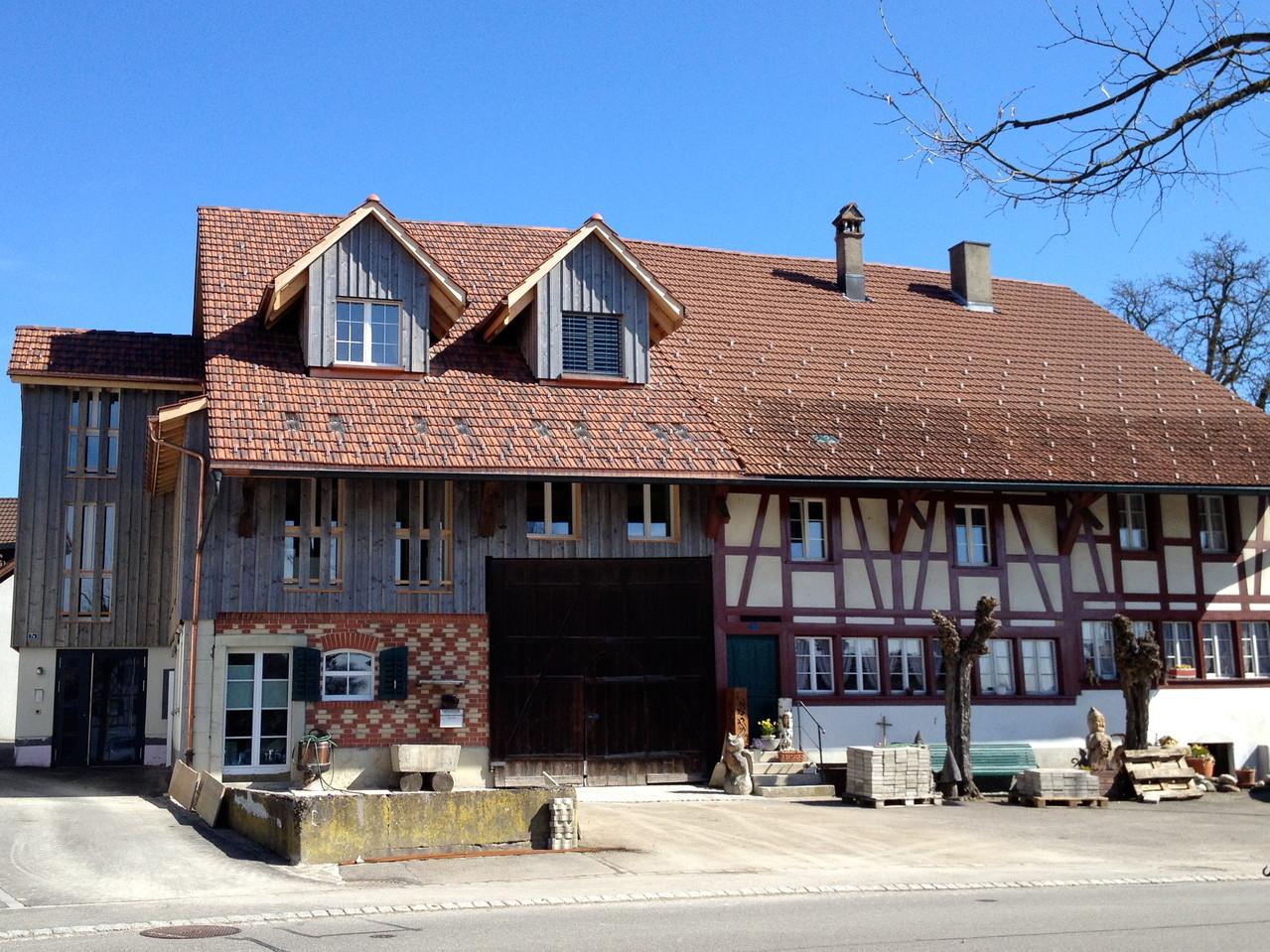 Dach, nachher: einsetzen neuer Dachgauben