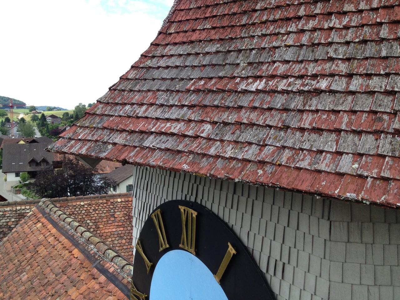 Sanierung Kirchturm, vorher