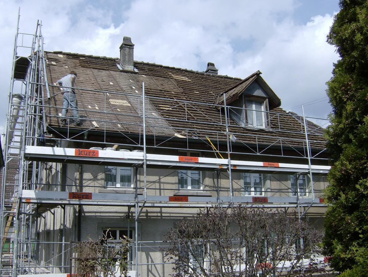 Sanierung Steildach: Vorher