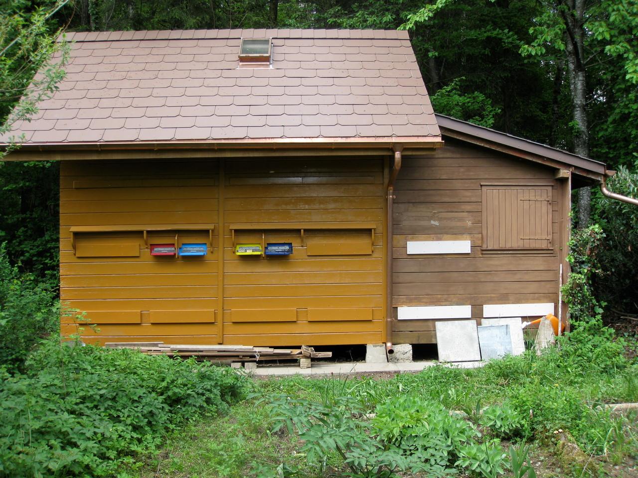 Bienenhaus: Nachher