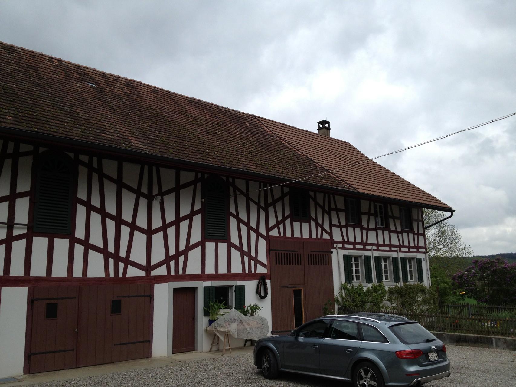 Dach mit Absatz, vorher