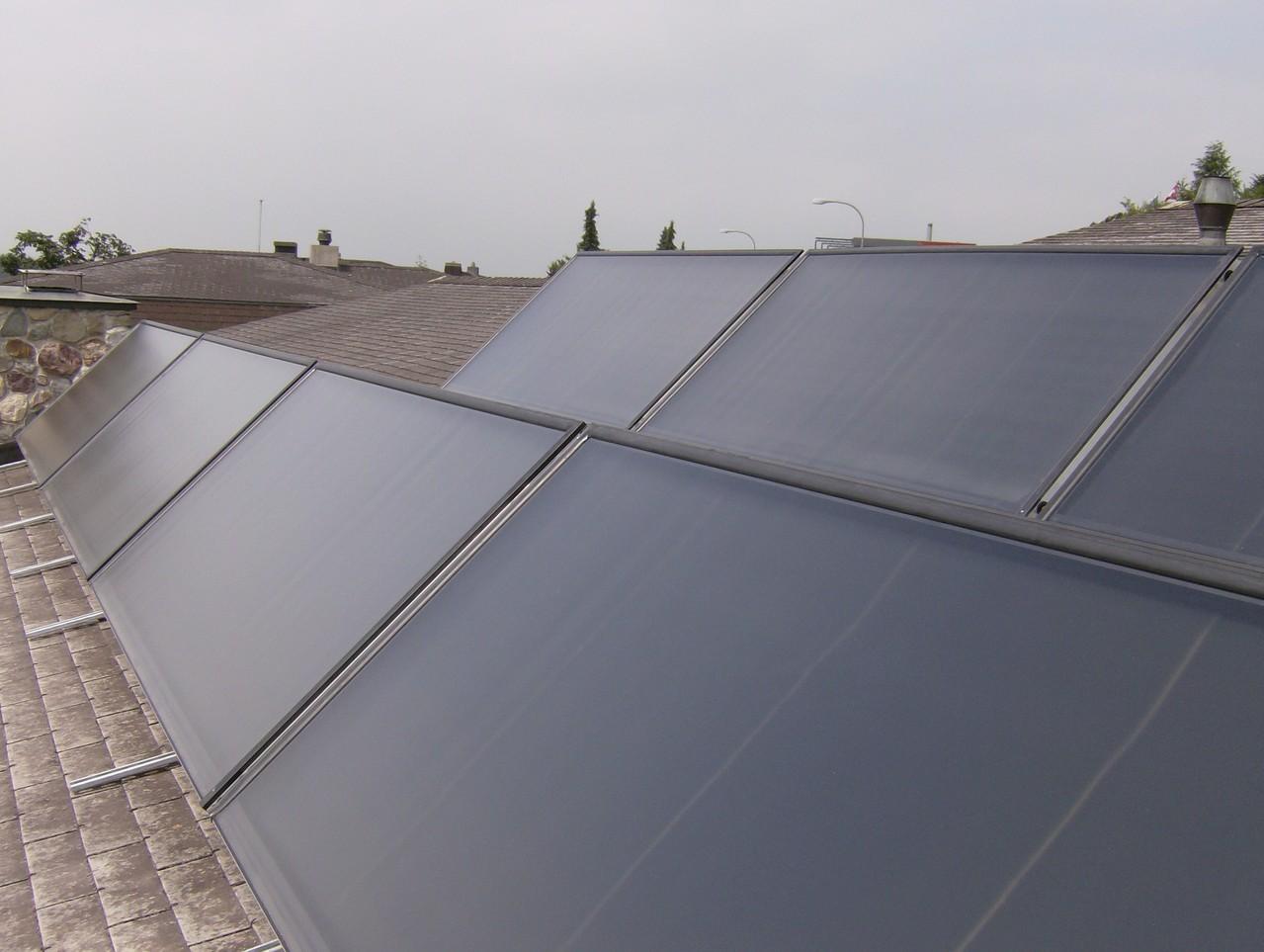 Warmwasseraufbereitung (Solar), Aufdachmontage