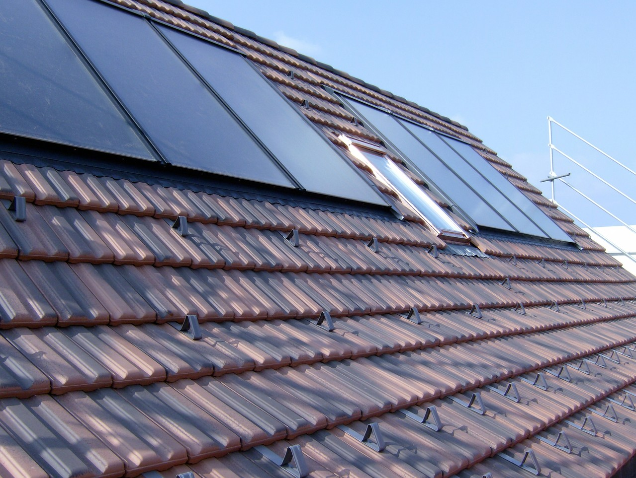 Warmwasseraufbereitung (Solar), Indachmontage