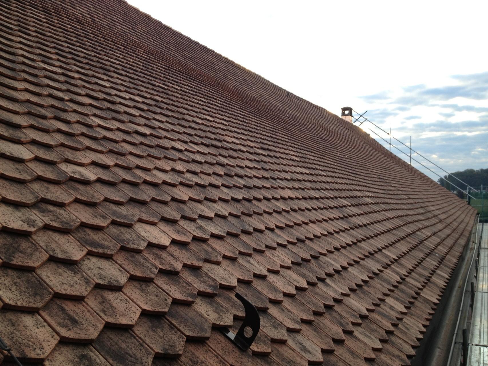 Dach ohne Absatz, nachher