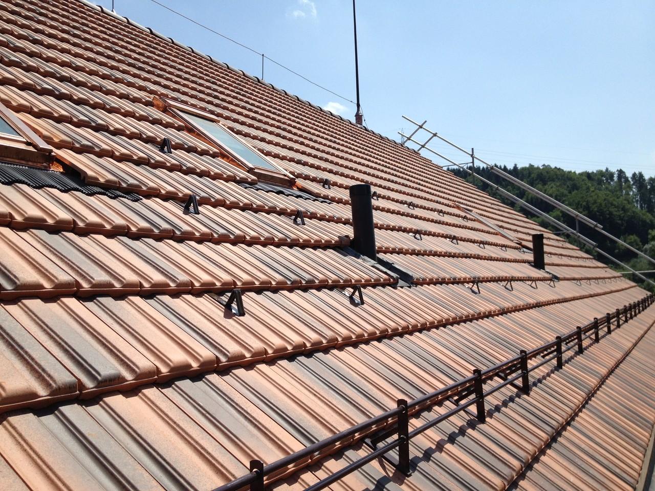 Dach, nachher