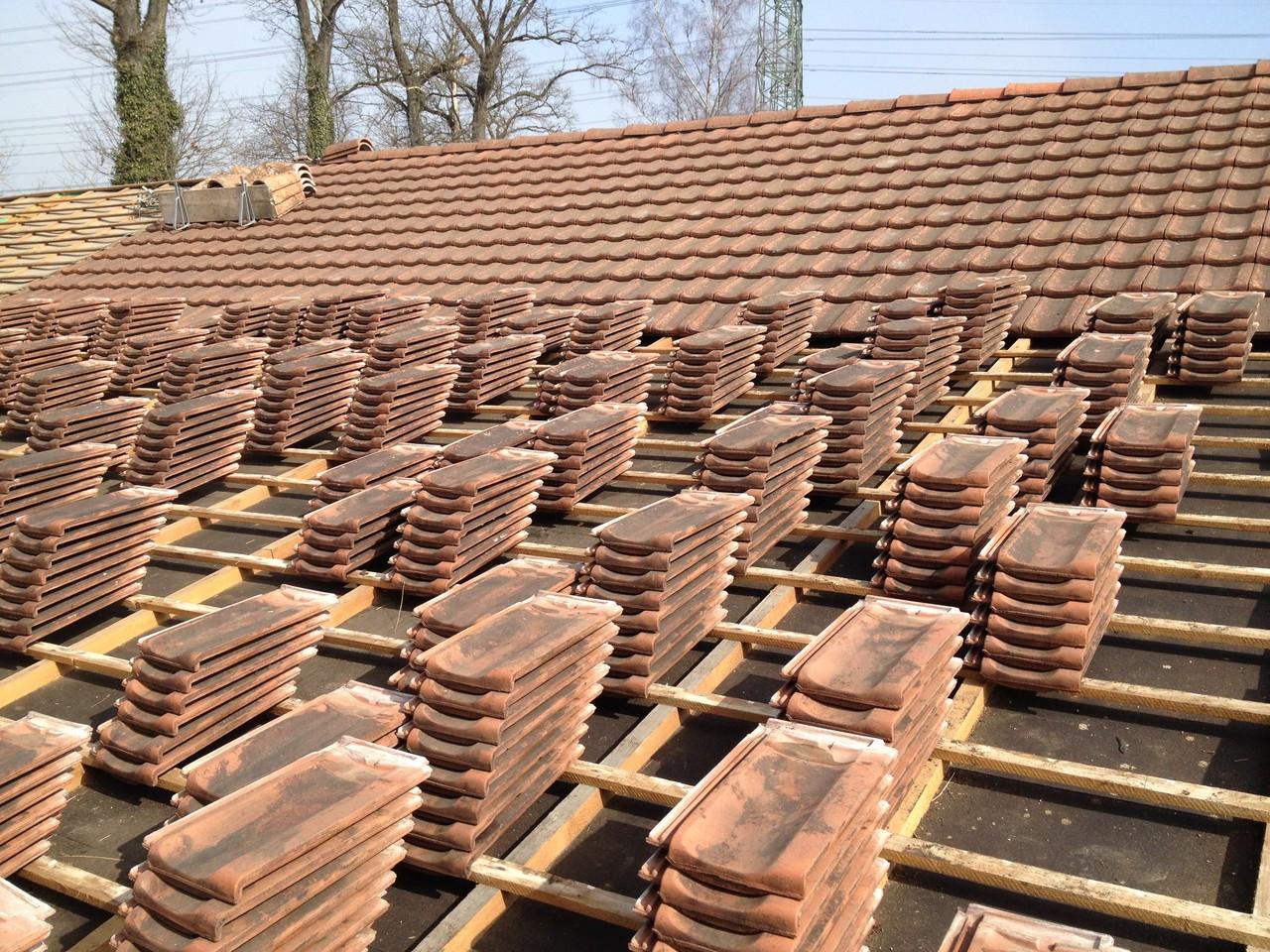 Dach umdecken | Ziegelreinigung