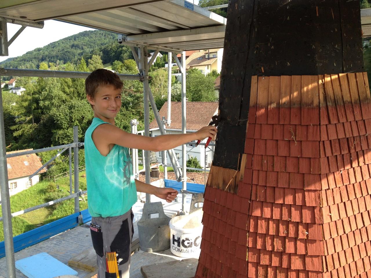 Rückbauarbeiten: auch die Jüngsten helfen mit!