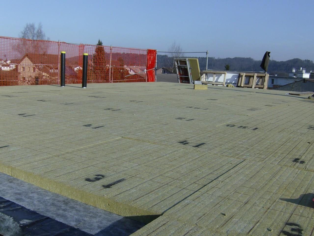 Isolation Flachdach auf Neubau