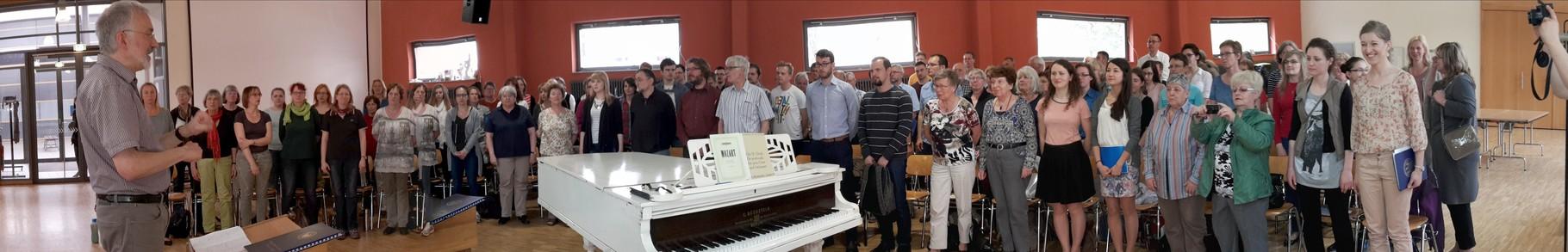Kantoreichor St.Michael und Akademiechor der Medizinischen Universität Lublin proben im Christlichen Gymnasium in Jena