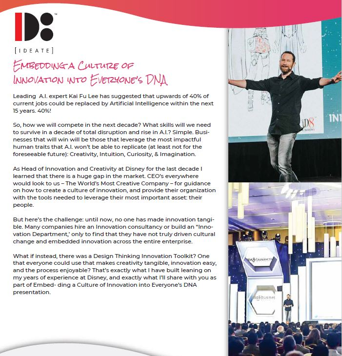 duncan wardle booking conference creativity contact entertainment embedding culture innovation
