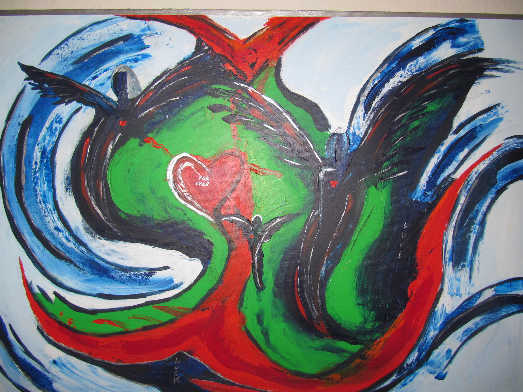 Engel II 70 x 100 Acryl auf Leinwand