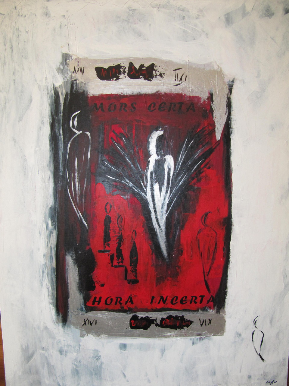 Engel 70 x 100 Acryl auf Leinwand Spachteltechnik