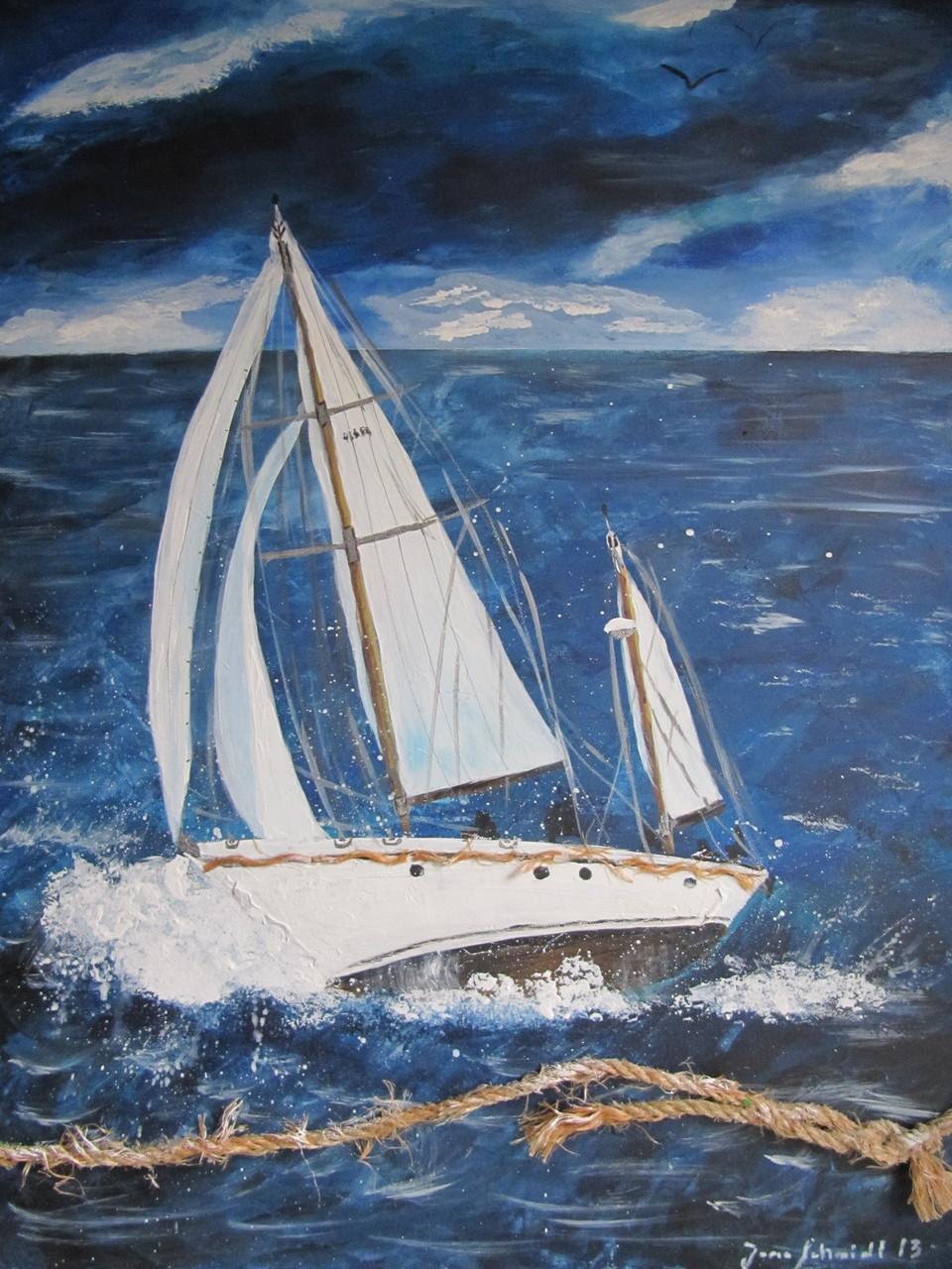 Sailing 60 x 80 Acryl auf Leinwand
