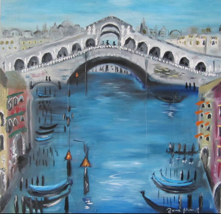 Venedig II 40 x 40 Öl auf Leinwand