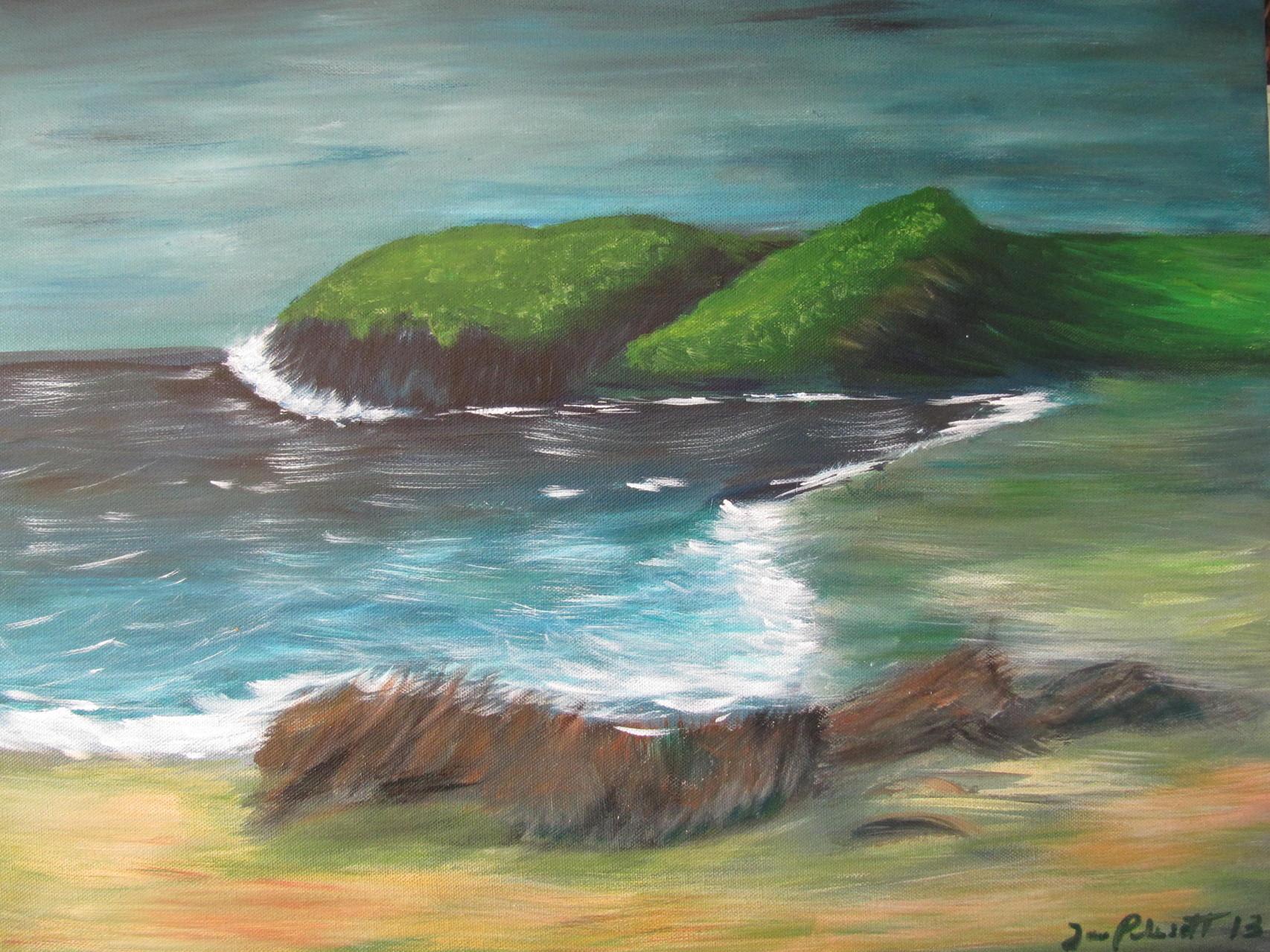 Cornwall 50 x 60 Acryl auf Leinwand