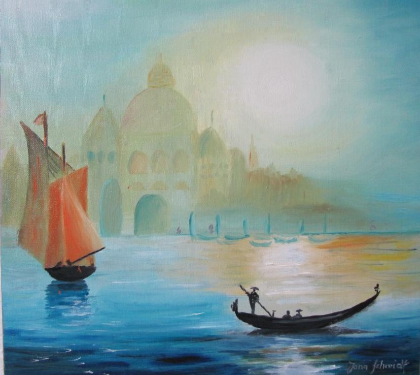 Venedig I 40 x 40 Öl auf Leinwand
