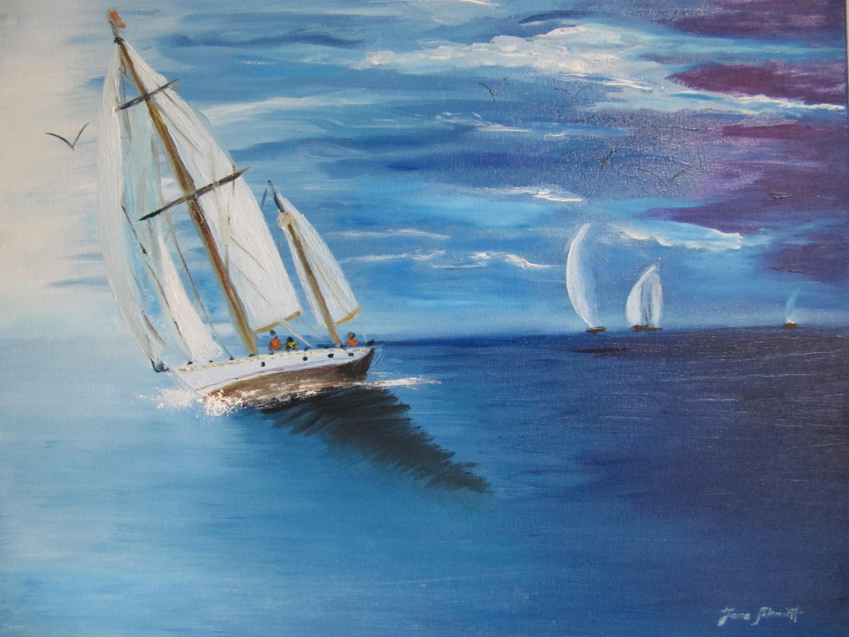 Sailing II 40 x 50 Öl auf Leinwand
