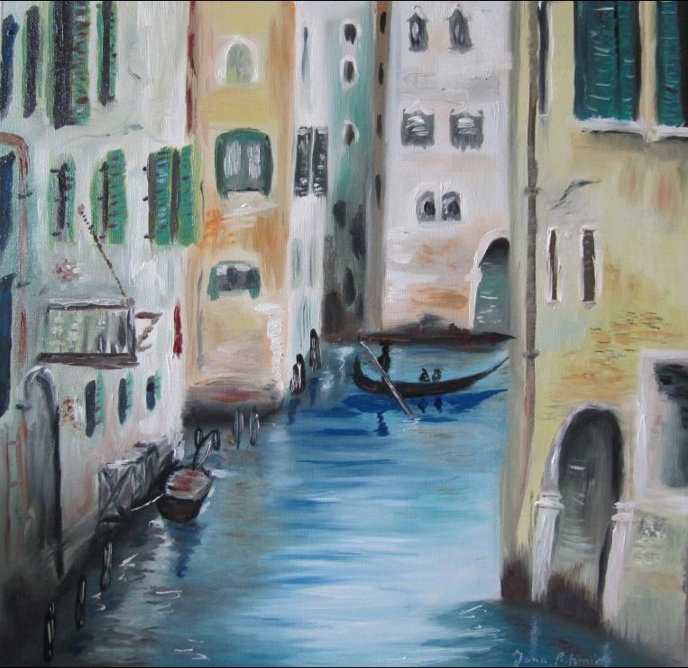 Venedig III 40 x 40 Öl auf Leinwand