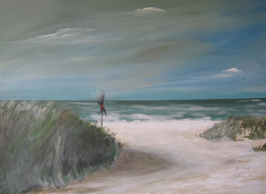 Sylt am Strand 60 x 80 Acryl auf 3D Keilrahmen