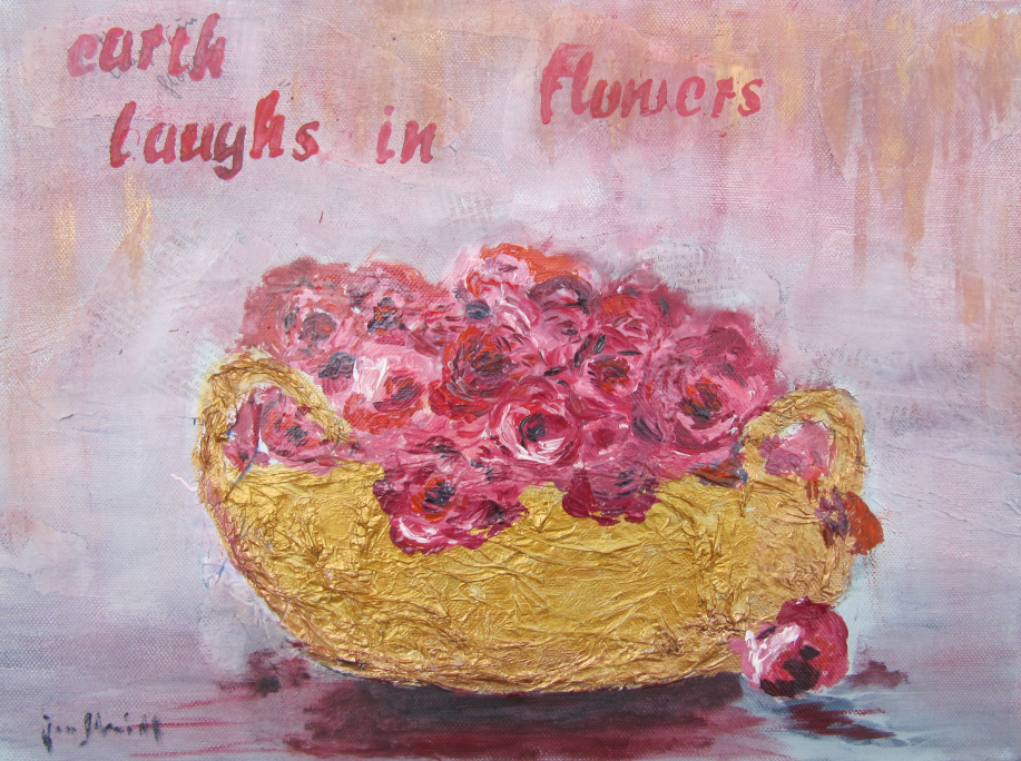 Roses 30 x 40 Öl auf 3 D Keilrahmen