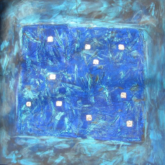 Die goldenen Zehn 100 x 100 Acryl auf Leinwand Mischtechnik 380€