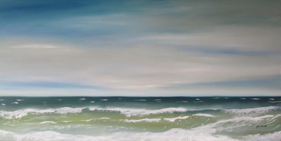 Sehnsucht Meer 70 x 140 Öl auf 3D Keilrahmen