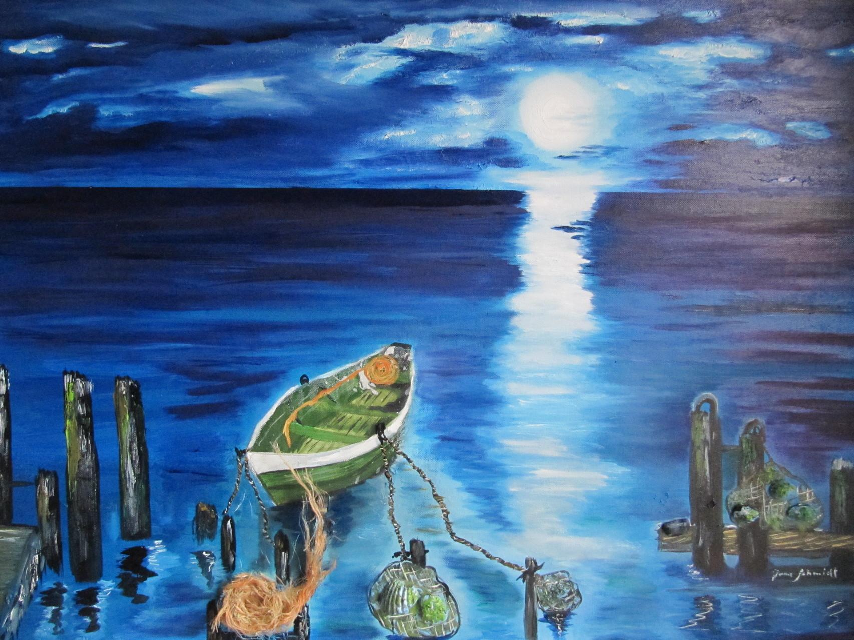 Moonlight 60 x 80 Öl auf Leinwand