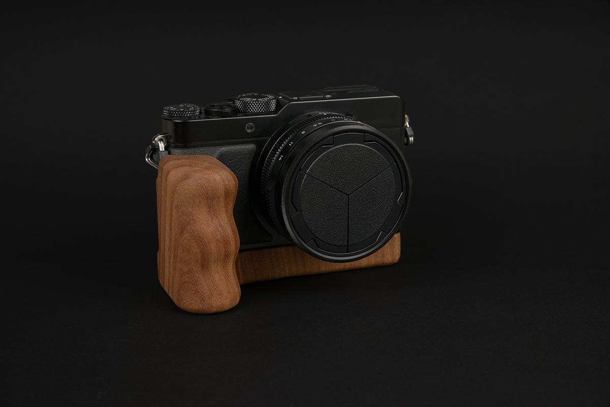 Panasonic Lumix LX100 mit Holzgriff