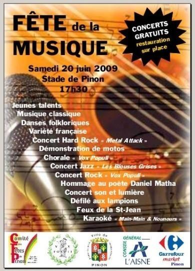 Fete de la musique PINON le 20 juin 2009