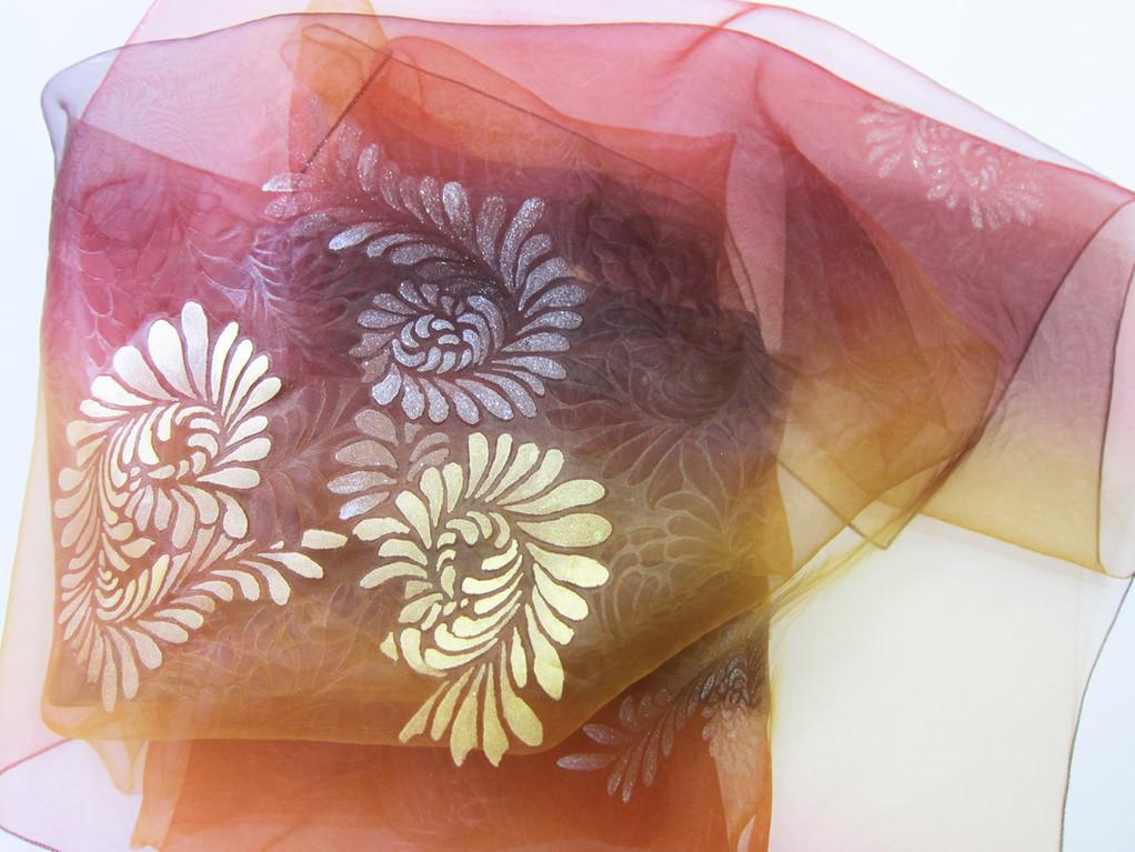 Kaga Yuzen Super Organza shawl