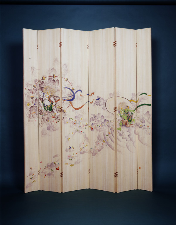 Kaga Yuzen partitioning screen
