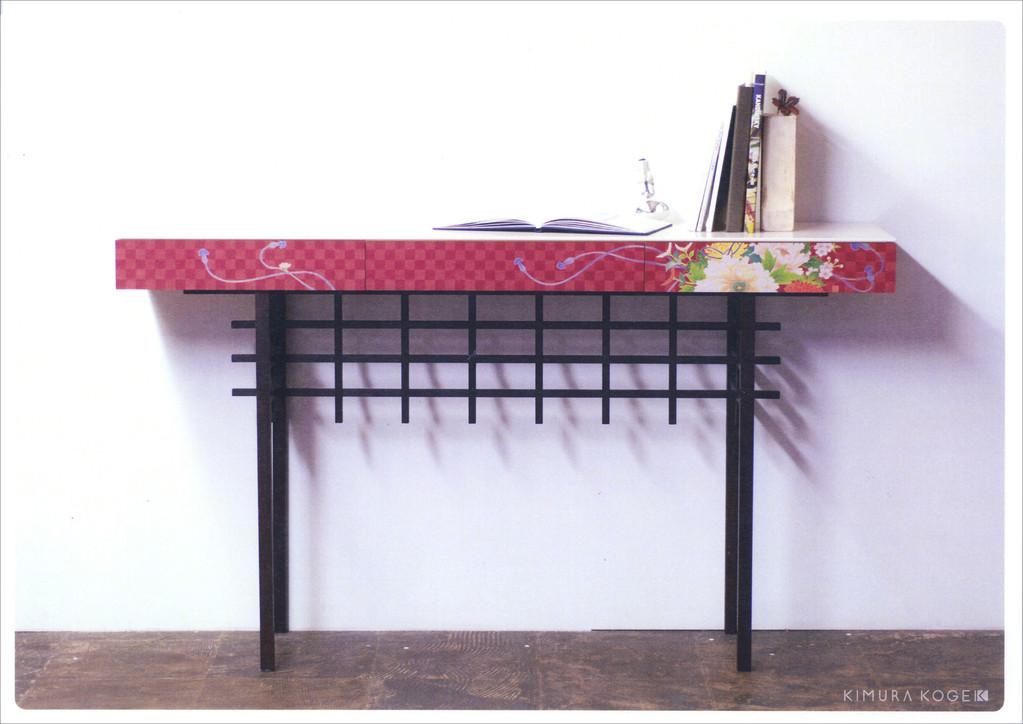 Kaga Yuzen wooden desk